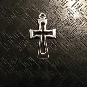 Jewelry - Religious silver alloyed metal cross